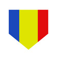 romania flag in on white background vector image vector image