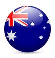 Round glossy icon of australia vector image