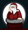Santa in trouble vector image