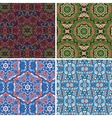 Seamless pattern in blue and green colors vector image vector image