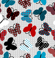 Seamless pattern with patterned butterflies vector image vector image