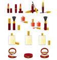 set icons cosmetics 01 vector image