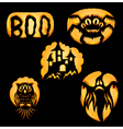 Set of Jack o Lanterns vector image vector image
