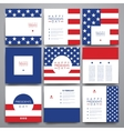 Set of modern design banner template in Presidents vector image vector image