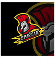 spartan warrior logo design warriors sport team vector image