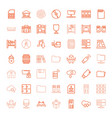 storage icons vector image vector image