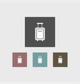 suitcase icon simple vector image