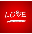 Text on a red background on Valentines Day vector image vector image