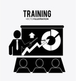 Training icon design vector image