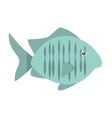 tropical fish sea habitat graphic vector image
