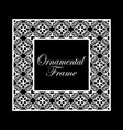 vintage ornamental frame luxury elegant ornament vector image