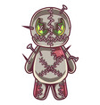 voodoo doll mascot logo design vector image vector image