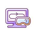 vr games rgb color icon vector image vector image
