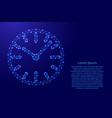 watch dial with hands from futuristic polygonal vector image