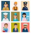 workers from different industries portraits set vector image