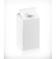 White cardboard milk package vector image