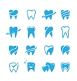 Teeth icon set isolated on white background vector image