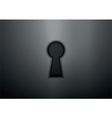 Keyhole on metal texture background vector image