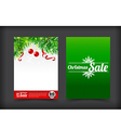 014 Collection of merry christmas coupon card vector image vector image