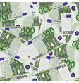 100 Euro bills seamless vector image