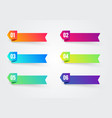 6 colorful 3d ribbon labels set vector image vector image