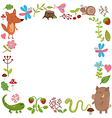 Background with wild animals vector image vector image
