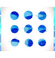 blue watercolor background blue watercolo vector image vector image