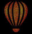 bright dot aerostat icon vector image vector image