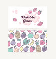 Business cards with hand drawn bubble gum vector image