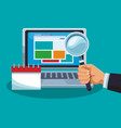 business online technology vector image