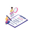 business planning tasks on clipboard and tools vector image
