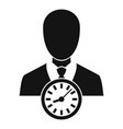businessman work time icon simple style vector image