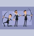 cartoon flat funny mafia man character set vector image vector image