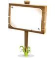 cartoon wood sign vector image vector image