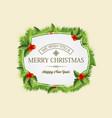 christmas coniferous wreath concept vector image vector image