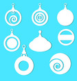 christmas paper hanging ornaments vector image vector image