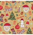 Christmas vintage pattern New year whimsical vector image vector image