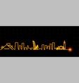 cleveland light streak skyline vector image