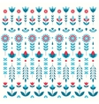 color flower set pattern vector image vector image