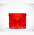 colorful gift box red color cylindrical form vector image