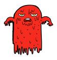 comic cartoon spooky ghost vector image vector image