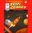 comic scifi book cover template vector image vector image