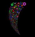 create random stream vector image vector image