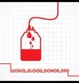 Creative World Blood Donor Day Greeting vector image