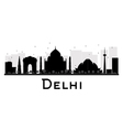 Delhi silhouette vector image vector image