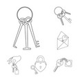 design of key and protection sig vector image vector image