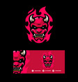 devil concept template vector image