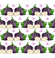 Eggplant seamless vector image vector image
