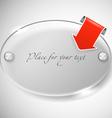 Ellipce advertising glass board vector image vector image