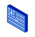 flag greece isometric icon vector image vector image